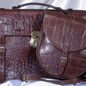 Briefcase and bag by Mulberry, 1996, Museum no. T.130-1996