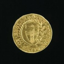 Sovereign Coin of the Commonwealth, England, about 1653. Museum no. M.946-1882