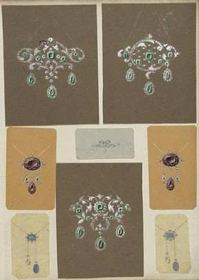 Album page, Oppitz Jewellers, about 1840. Museum number AAD/1984/2/1