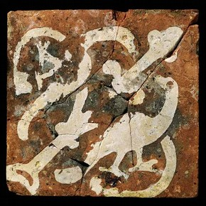 Floor tile, about 1280. Museum no. 1268-1892