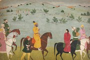 Nainsukh, &#39;Mian Mukund Dev of Jasrota riding through a meadow&#39;, about 1754. Museum no. IS 7-1973 