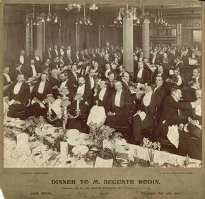 Dinner at the Caf Royal, held in honour of Auguste Rodin, 1902.  Reading Museums Service, Reading Borough Council. All rights reserved.