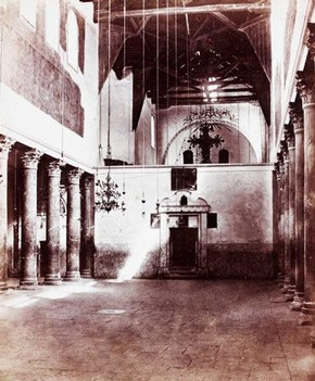 Church of the Nativity, Bethlehem, photograph, F.M. Good, 19th Century. Museum no. E.494-1900