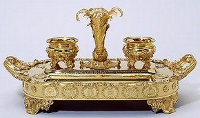 The Castlereagh Inkstand, marked by Paul Storr and Philip Rundell, London, 1818-19 and 1819-20. Museum no. M.8-2003