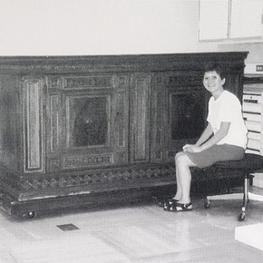 Merete Winness with Italian Credenza