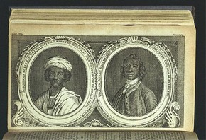 Job Ben Solomon (left) and William Ansah Sessarakoo, England, print on paper, published 1750. National Art Library pressmark PP.501.G