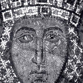 Fig. 2 Mosaic in half-cleaned state