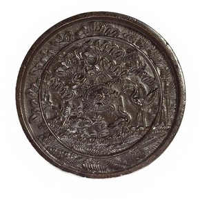 Bronze mirror, Japan, 1400-1550. Museum no. 722-1901