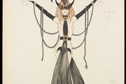 Showgirl costume design for The Gallows in 'Miss Otis Regrets', Ronald Cobb, 1970. Museum no. S734-1996 