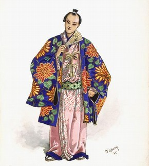 Costume design for a Japanese Gentleman in Gilbert and Sullivan's comic opera 'The Mikado' Design by Wilhelm Savoy Theatre, London 1885 Museum no. S.101-1991