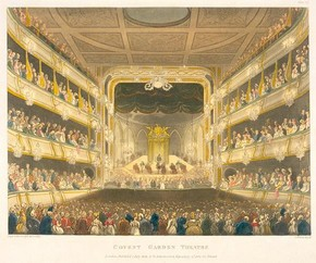 Covent Garden Theatre, Augustus Charles Pugin & Thomas Rowlandson, 1808. Museum no. E.274-1947