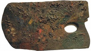 Palette traditionally believed to have been used by William Blake in 1780