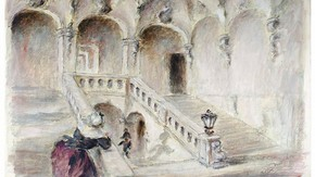 Set design by Oliver Messel for the film 'The Queen of Spades'. Museum no. S.189-2006