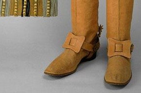 Coronation herald's boots, E. Shtumpf, 1896. Museum no. TK-1632/1-2, © The Moscow Kremlin Museums