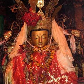 Image of Amitaba, Swayambhunath, Kathmandu, Nepal. © John Huntington