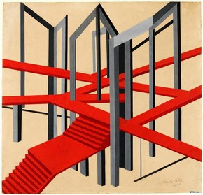 Design for a Constructivist stage setting for a Tragedy, Alexandra Exter, early 20th century. Museum no. E.791-1963