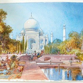 Figure 2. 'View of the Taj Mahal, Agra' by William Simpson (IS. 1130-1869) (Photography by V