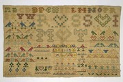 Sampler, Unknown, 1751. Museum no. T.285-1960