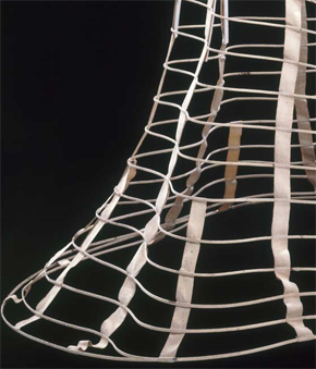 Cage crinoline, about 1860. Museum no. T.195-1984