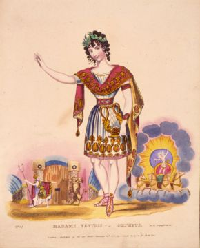 Madame Vestris as Orpheus, 1831. © Victoria and Albert Museum, London