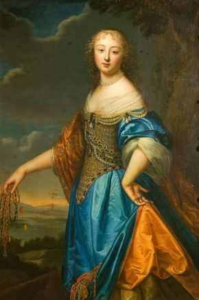 Portrait of Jeanne de Marigny, attributed to Charles (1604-92) and Henri Beaubrun (1603-77), Paris, about 1650-60, oil on canvas. Museum no. 566-1882, © Victoria and Albert Museum, London