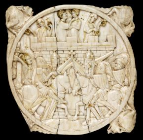 Mirror case, Germany (possibly Cologne), about 1350, elephant ivory. Museum no. 220-1867, © Victoria and Albert Museum, London