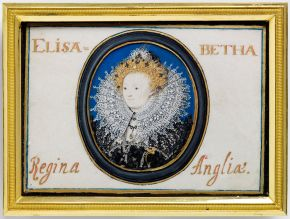 Portrait miniature of Queen Elizabeth I (1553-1603), by Nicholas Hilliard, 1586-87, watercolour on vellum. Museum no. P.23-1975, © Victoria and Albert Museum, London