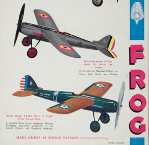 Leaflet, FROG model aircraft Lines Bros Ltd, 1932 copyright Victoria and Albert Museum