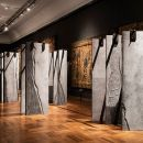 The Ogham Wall by Grafton Architects. Photo Ed Reeve
