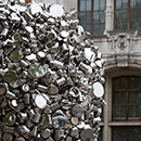 'When Soak Becomes Spill' by Subodh Gupta, stainless steel, made in India and London, 2015, © Victoria and Albert Museum, London
