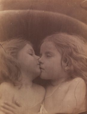 The Double Star, Julia Margaret Cameron, 1864, albumen print. Museum no. 45158 @ Victoria and Albert Museum, London