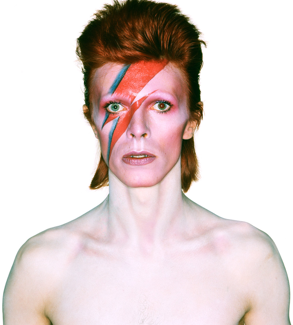 Album cover shoot for Aladdin Sane, 1973. Photograph by Brian Duffy