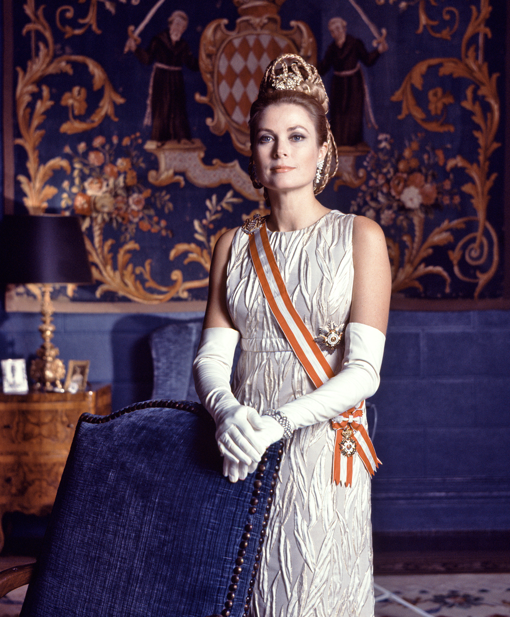 Portrait of Princess Grace on her 10th wedding anniversary, Monaco