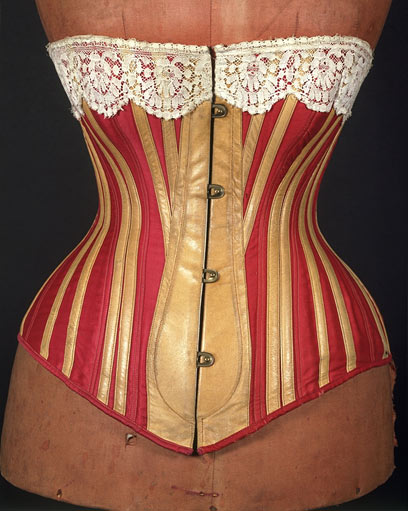 Corsets and Bustles from 1880-90 - the Move from Over-Structured Opulence to the 'Healthy Corset'