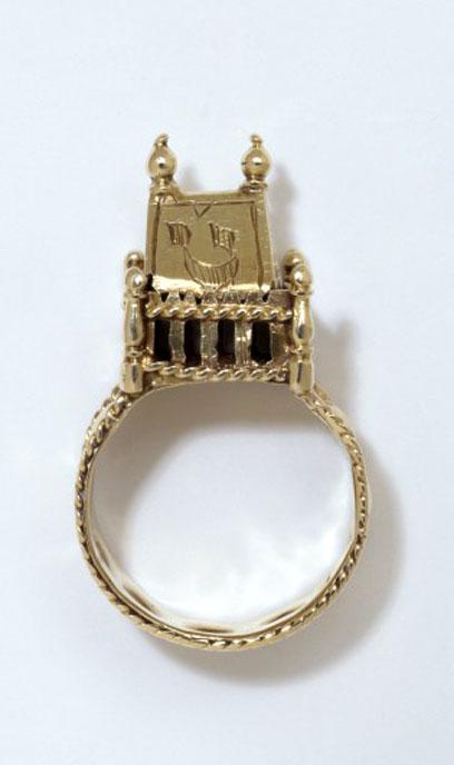 jewish wedding ring 18th 19th century museum no453 1873 - Jewish Wedding Ring
