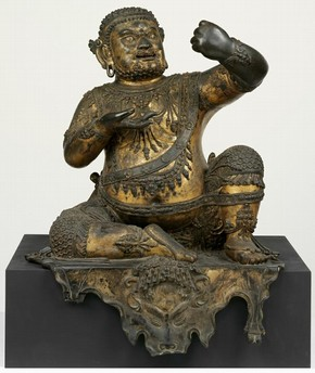 Figure 1a - The Mahasiddha Virupa (Museum no. IS.12-2010) before cleaning