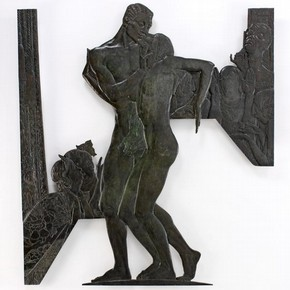 Bronze 'Scandal' relief, by Charles Sargeant Jagger, England, UK, 1930. Museum no. A.1-2008