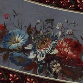 Side table (detail), probably made by George Brookshaw, about 1785. Museum no. 349-1871