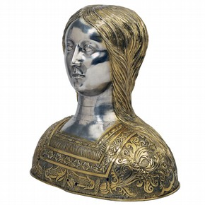 Head of a young girl reliquary, about 1525. Museum no. M.468-1956