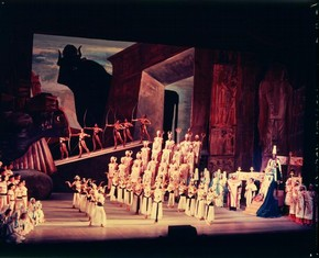 Scene from Margherita Wallmann's production of Verdi's Aida, Royal Opera House, Covent Garden, London, 1957