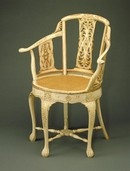 Ivory Chair, around 1785. Museum no. 1075-1882 (click image for larger version)