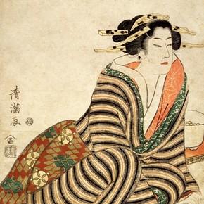 Torii Kiyomitsu II, 'The Angry Drinker', late 1810s. Museum no. E.5209-1886