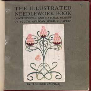 Front cover from 'The Illustrated Needlework Book', by Florence Caulfield, London, England, 1914. Museum no. NAL 43.B.154