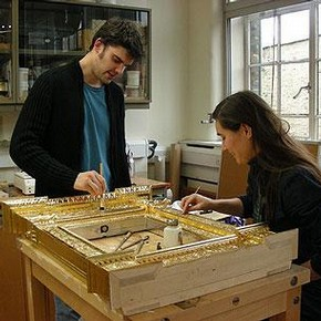 Zoe Allen, Senior Furniture Conservator and Tom Barrow, Frames Conservator
