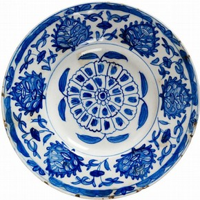 Figure 1 - Dish, 1715-1740, Kütahya, Turkey. Museum no. 596-1874