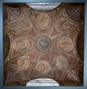 Figure 9a - Ceiling from Casa Maffi, Cremona, about 1500. Museum no. 428-1889