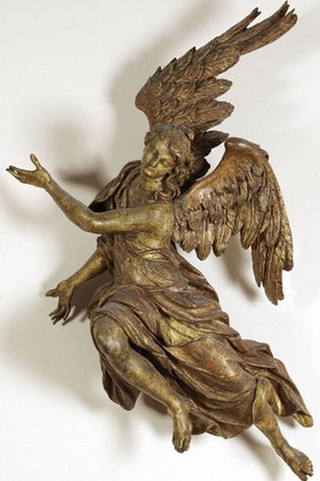 Figure of an Angel, about 1710. Museum no. A.6-1948