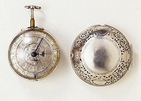 Watch and case, England, about 1700. Museum no. 1362-1904