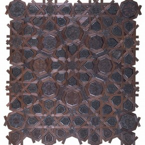 Side panel of a minbar made for the mosque of Ibn Tulun, Egypt (Cairo), 1296, Museum no. 891-1884. © Victoria & Albert Museum, London