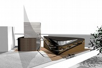 Proposed mosque, Bethnal Green. © Makespacearchitects